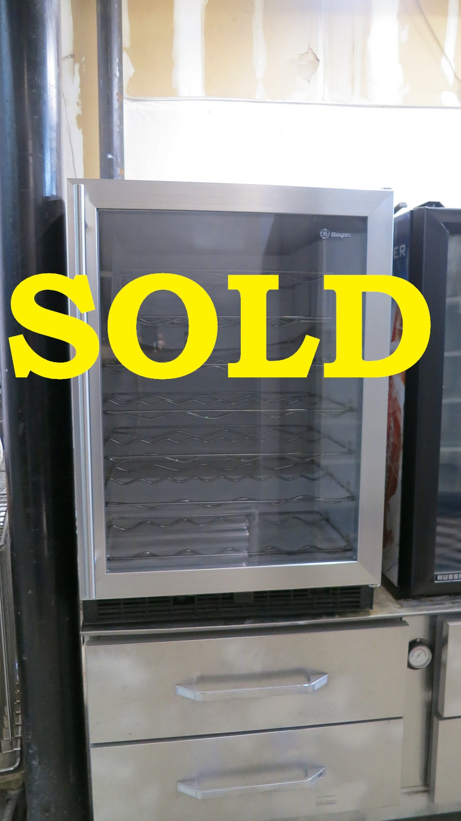 Used Ge Zdw24a Rbb Wine Cooler Chiller