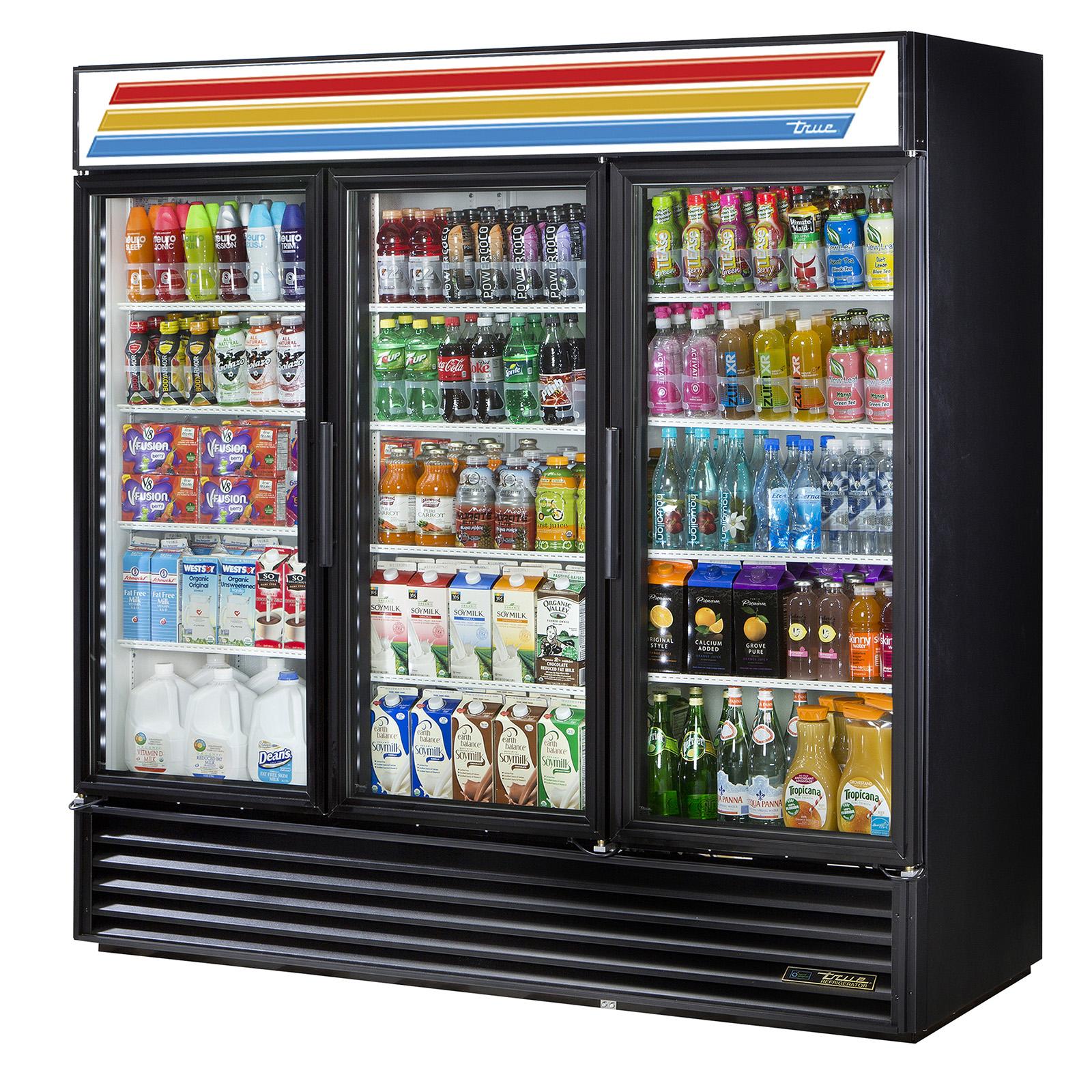 True Gdm 72 Hc Tsl01 Commercial Merchandiser Glass Door Cooler