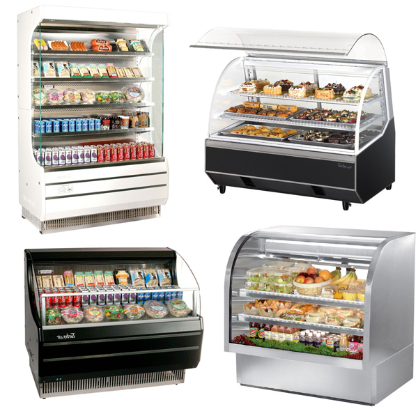 Used Kitchen Equipment Miami: Display Case Refrigerated Bakery European Style Curved Glass