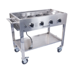 Commercial Griddle Base, mobile, LP gas, 36in. x 20in